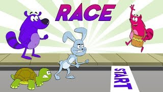 Pyaar Mohabbat Happy Lucky - Ep. 98 | Race | Funny Hindi Cartoon Show