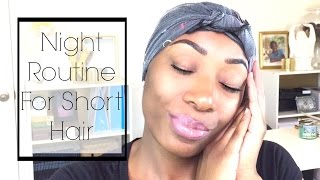 My Night Routine 2016 | Short Relaxed Hair