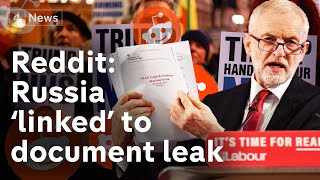 Reddit says US-UK trade document leak linked to Russia