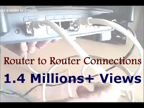How to connect a router to a router - YouTube