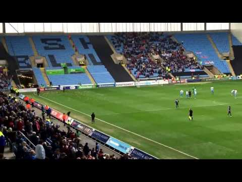 Coventry v Charlton Pigs on the Pitch Before Match Protest