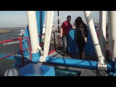 Havenkraan van Harlingen dromen aan zee hotel overnachting in een kraan
