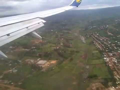 Rwandair landing at Kigali - Rwanda