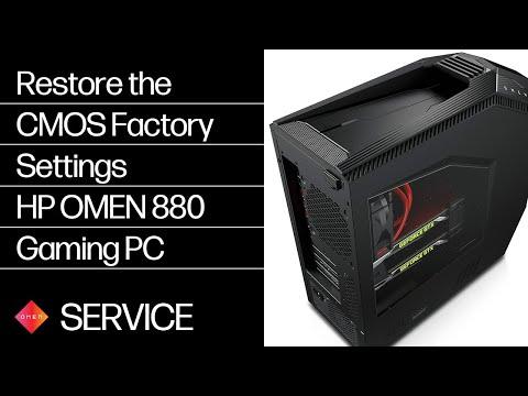 Restoring the CMOS Factory Settings | HP OMEN 880 Gaming PC | HP