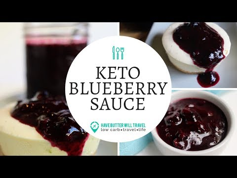 Keto Blueberry Sauce | Low Carb and Sugar Free