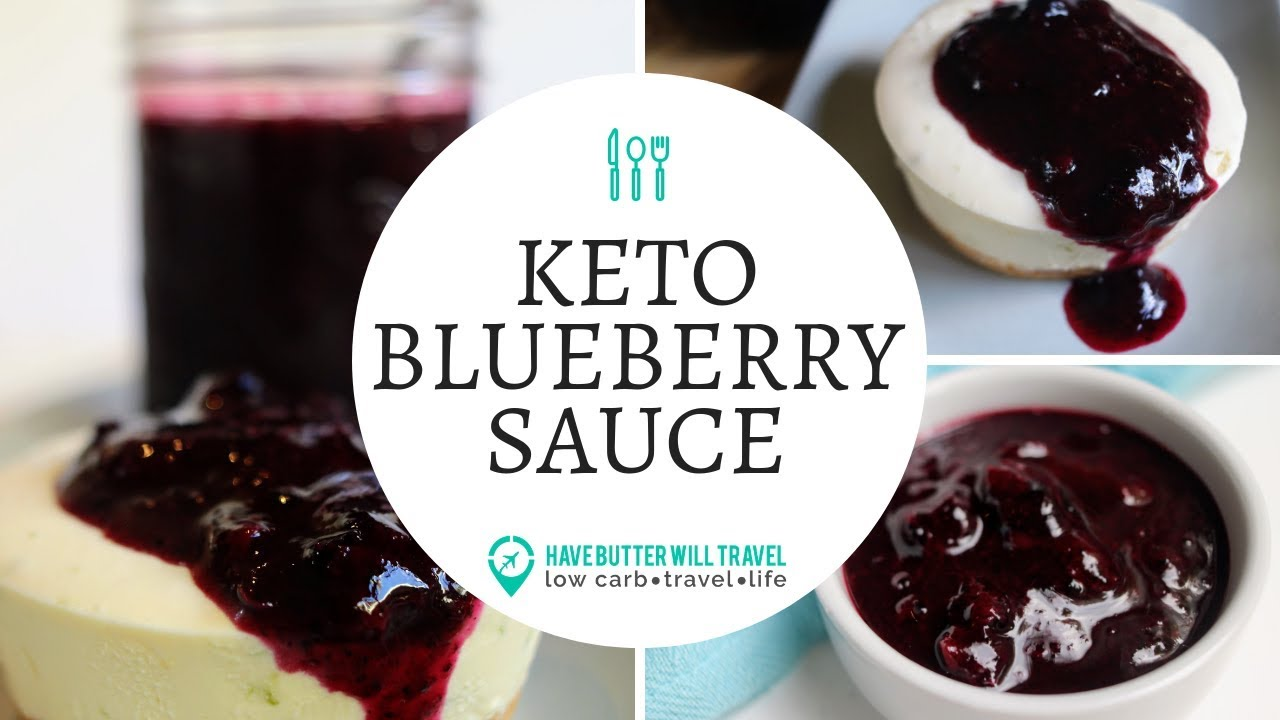 Keto Blueberry Sauce - Perfect with Pancakes - Have Butter
