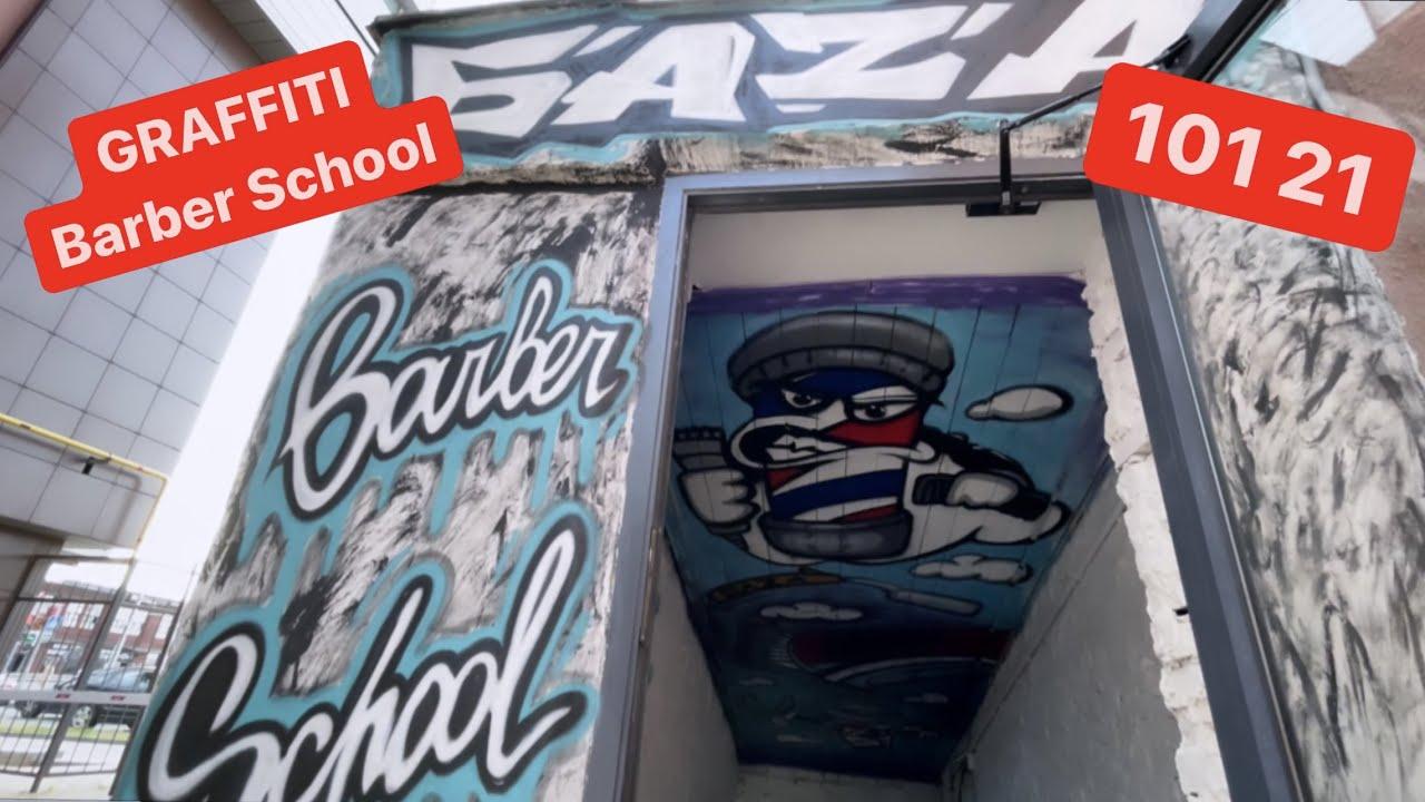 Круто оформил в Graffiti Barber shop | граффити на потолке