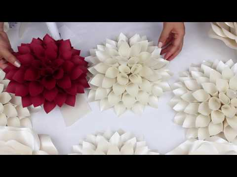 DIY Paper Dahlia Tutorial - My Wedding Backdrop Flowers thumbnail