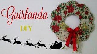 Guirlanda feita com cds – Diy Especial de Natal