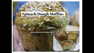 Spinach Dough Muffins with  Vegetables
