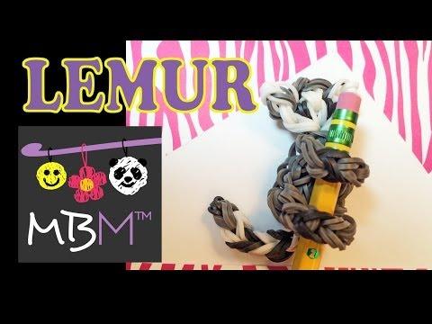 rainbow-loom-pencil-hugger:-ring-tailed-lemur