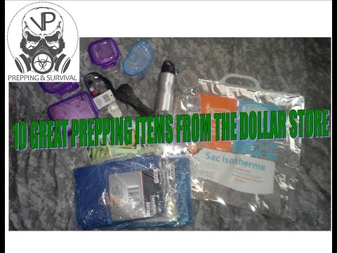 10 Great Prepping Items From The Dollar Store!