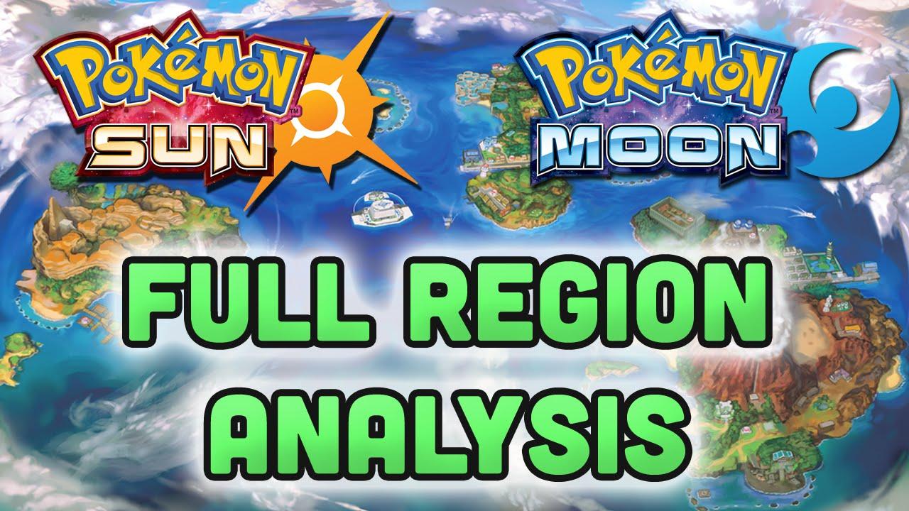pokemon sun and moon full a a region map analysis youtube