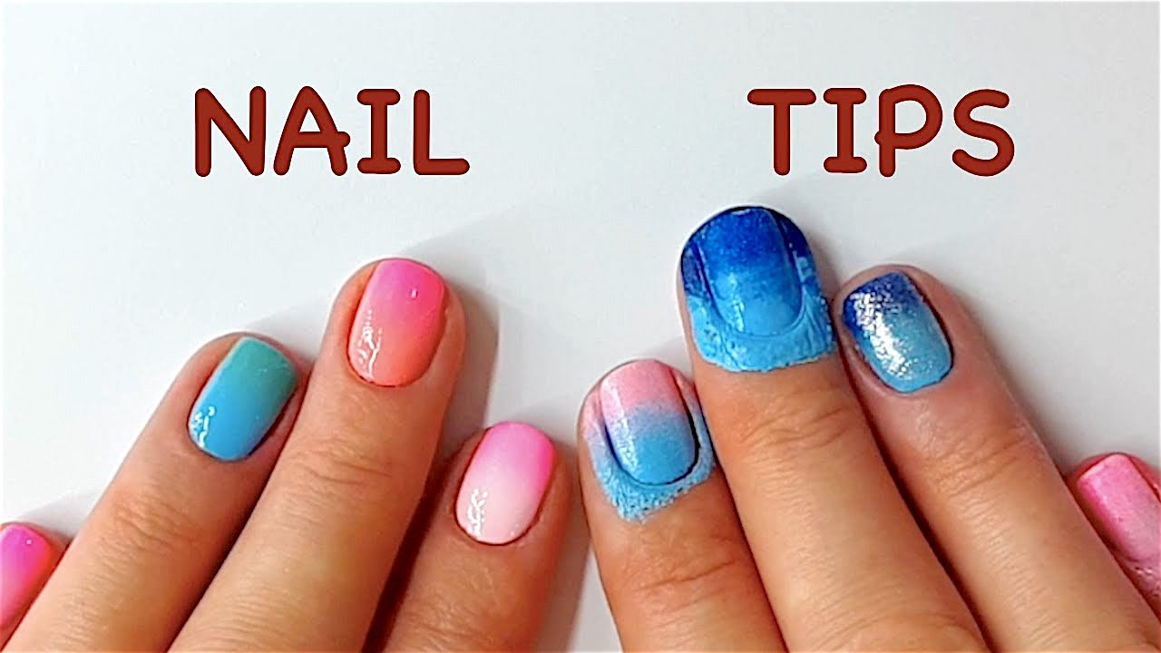 How To: Ombre Nails (Tips And Mistakes) - YouTube