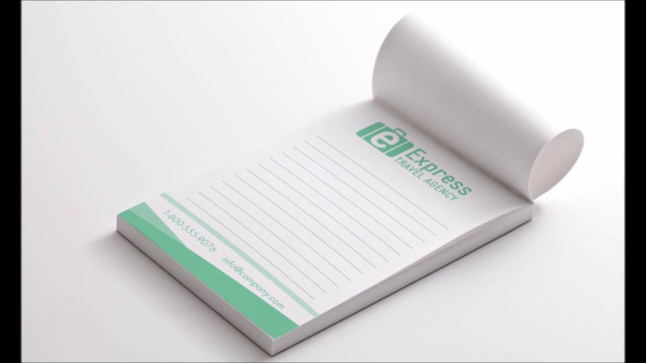 notepad printing cheap notepads printing print east youtube