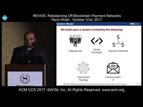 ACM CCS 2017 - REVIVE: Rebalancing Off-Blockchain Payment Networks - Rami Khalil