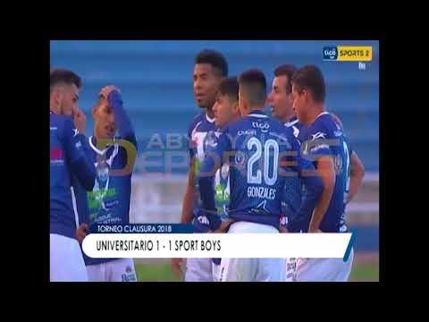 TORNEO CLAUSURA: UNIVERSITARIO 1 - 1 SPORT BOYS