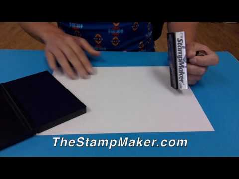 How To Make a Quality Rubber Stamp Impression