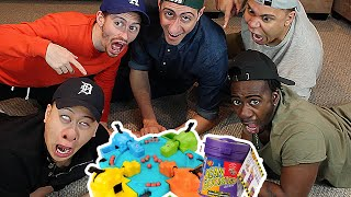 BEAN BOOZLED CHALLENGE HUNGRY HUNGRY HIPPOS EDITION!!! (VOMIT ALERT)