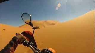KTM 690 Enduro R: 1st Try - 1st Fails in Sand Desert [2013, Morocco/Maroc, near Merzouga]