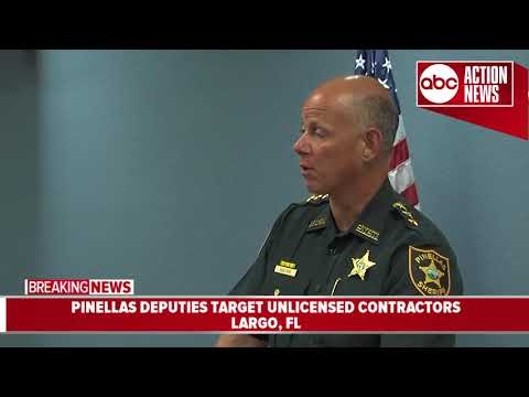 Thumbnail: Pinellas deputies target unlicensed contractors | News Conference