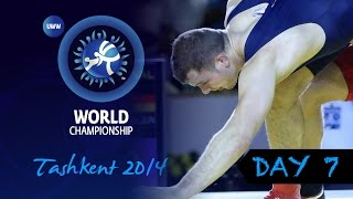 Finals Highlights from Day Seven of the Wrestling World Championships 2014