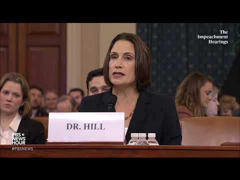 WATCH: Fiona Hill's full opening statement | Trump impeachment hearings
