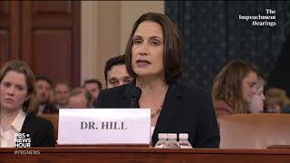 WATCH: Fiona Hill's full opening statement   Trump impeachment hearings