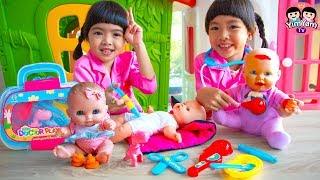 หนูยิ้มหนูแย้ม   เล่นเป็นคุณหมอช่วยเหลือเด็ก Kids Role Play Toy Doctor
