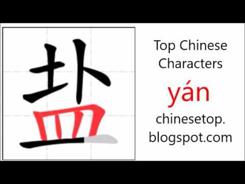 Chinese Character 盐 Yán Salt