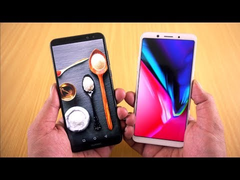Display Comparison !!!! Oppo F5 vs Huawei Mate 10 Lite [Urdu/Hindi]