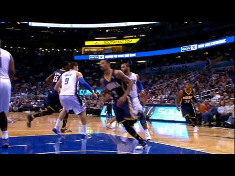 Paul George Throws Down On Glen Davis !
