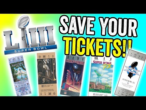 OLD TICKET STUBS WORTH MONEY - SUPER BOWL TICKETS SELL FOR BIG MONEY!!