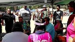 """Drum Circle """"LITTLE LODGE,"""" August 28, 2016, Klamath Tribes Restoration Powwow, Chiloquin, Oregon"""