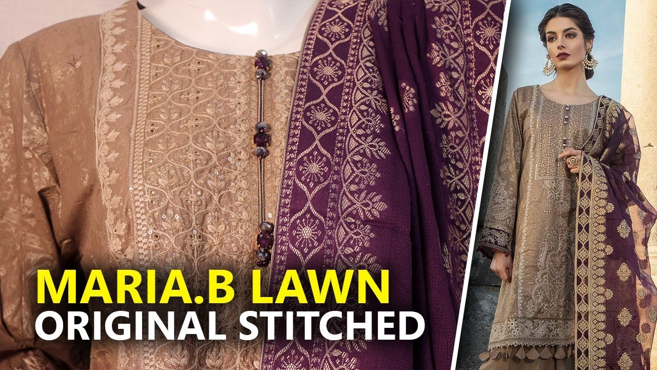 asian indian Pakistani ready made designer stitched lawn suit maria b eid 2019