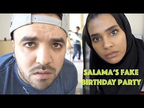 Salama's fake birthday party!! عيد ميلاد سلامه الوهمي