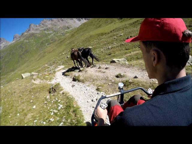 LUF Mobil crossing the alps