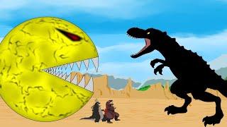 Godzilla, Shin Godzilla vs PAC: Dinosaurs Attack PAC-MAN Funny | Godzilla & Dinosaurs Movie Cartoon