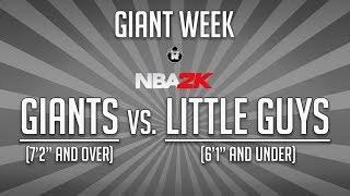 'NBA 2K': Giants vs. Little Guys—Five of the Tallest Players vs. Five of the Smallest Players