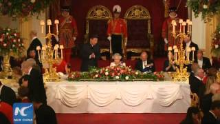 Queen Elizabeth hosts state banquet for President Xi Jinping