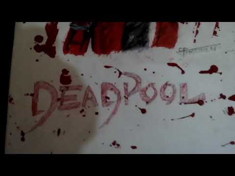 Drawing deadpool inspired by Stephen Ward with cheap materials