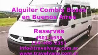 Alquiler Combis Buses en Buenos Aires Travelvans.com.ar