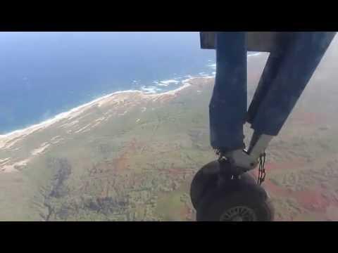 Prior to arrival in Molokai Island in Hawaii on board Island Air