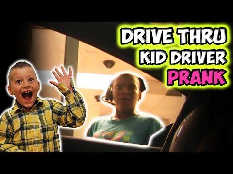 DRIVE THRU KID DRIVER PRANK!!