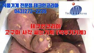 테크인코리아- 고구마사각절단기 (깍두기기계)