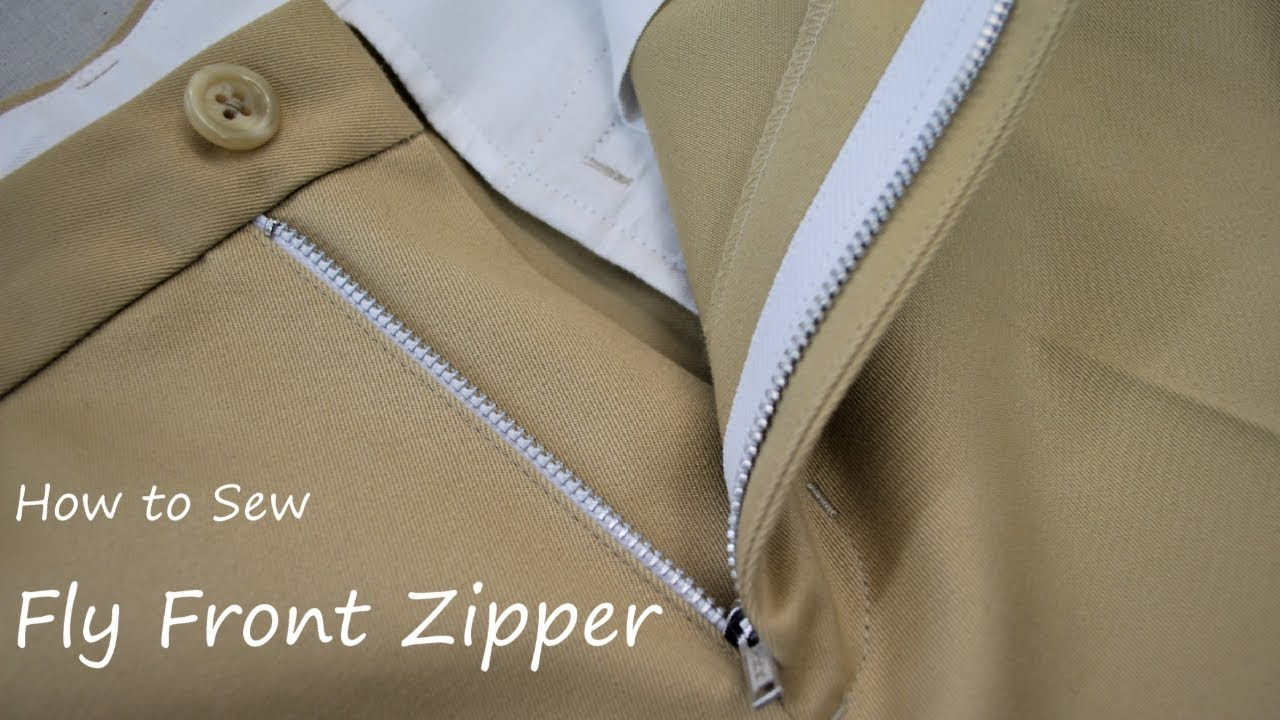 How to sew a Fly Front Zipper on Trousers