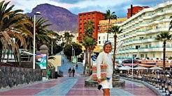[4K] Costa Adeje, Promenade Walk from Playa del Duque, Fanabe to Playa la Pinta - Tenerife