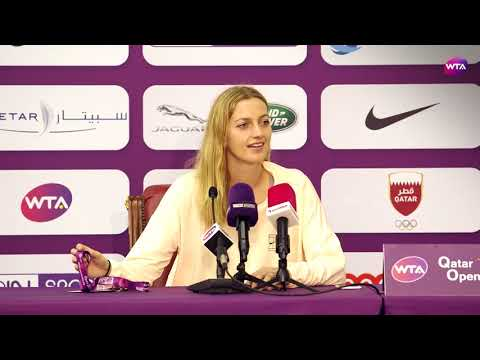 2018 Qatar Open press conference: Petra Kvitova 'I'm very proud of myself that I won it'
