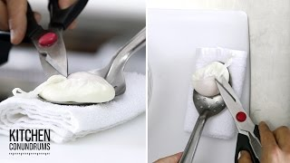 The Trick to Poaching a Perfectly Round Egg - Kitchen Conundrums with Thomas Joseph