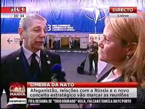 Admiral Giampaolo di Paola on SIC TV Portugal at NATO Summit in Lisbon
